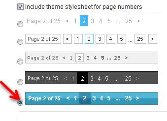 нумерация страниц блога